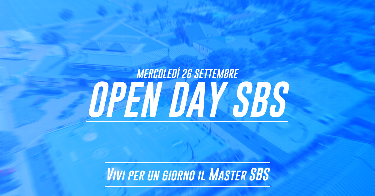 Open Day Master SBS settembre 2018