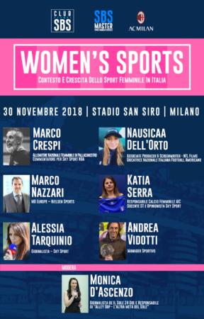 Womens Sports Master SBS San Siro 2018