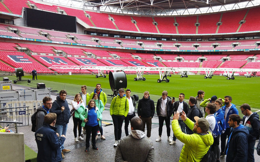 In visita al Wembley Stadium